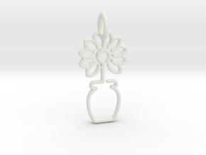 Tree No.3 Pendant in White Natural Versatile Plastic