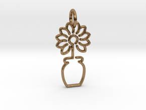 Tree No.3 Pendant in Natural Brass