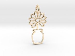 Tree No.3 Pendant in 14K Yellow Gold