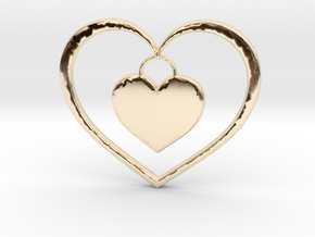 Pendant No.5 Heart in 14K Yellow Gold