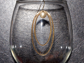 Focal Point Earring (small) in Natural Brass