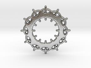 Circles No.2 Pendant in Natural Silver