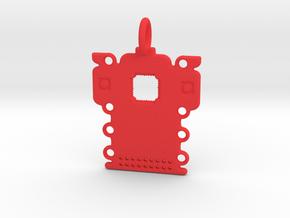 Electronics Pendant in Red Processed Versatile Plastic