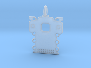 Electronics Pendant in Smooth Fine Detail Plastic