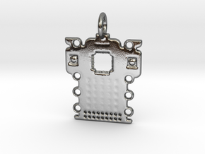 Electronics Pendant in Polished Silver