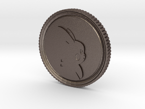 PokeCoin in Polished Bronzed Silver Steel