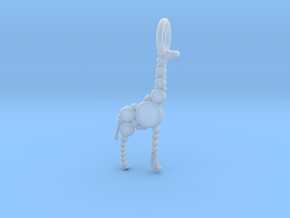 Giraffe Pendant in Smooth Fine Detail Plastic