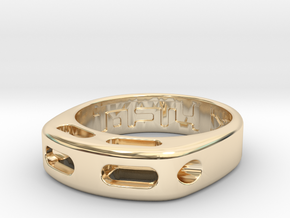 US8 Ring XX: Tritium in 14k Gold Plated Brass