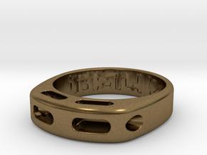 US9.125 Ring XX: Tritium in Natural Bronze