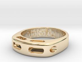 US9.125 Ring XX: Tritium in 14K Yellow Gold
