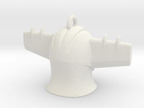 Jeeg Head Pendant  Mini in White Natural Versatile Plastic