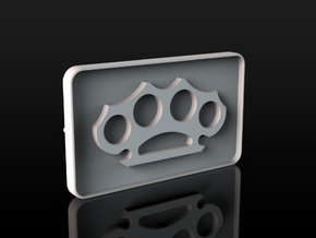 Buckle Brass Knuckles in White Natural Versatile Plastic