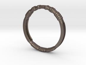 Kony Bracelet in Polished Bronzed Silver Steel
