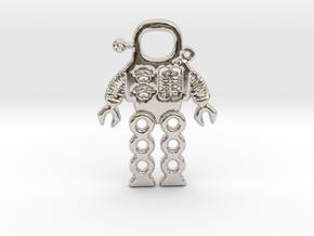 Mars Robot Pendant in Platinum