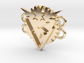 Pokemon Go Team Instinct Bracelet Medallion in 14k Gold Plated Brass