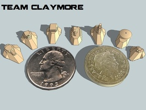 """Team Claymore"" 3mm Anti-Grav Armor Sample Pack in White Strong & Flexible"