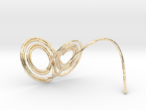 Lorenz Butterfly (Lorenz Attractor) in 14K Yellow Gold