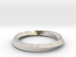 Mobius band in Rhodium Plated Brass