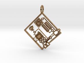 Circuit 1.0 Pendant in Natural Brass