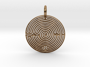Maze Pendant in Natural Brass