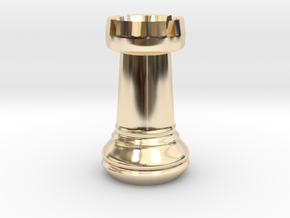 Chess Set Rook in 14K Yellow Gold