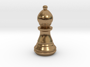 Chess Set Bishop in Natural Brass