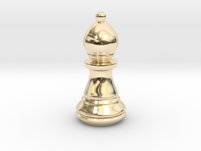 Chess Set Bishop in 14k Gold Plated Brass