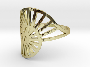 Nautilus Ring Size 10 in 18k Gold Plated