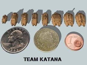 """""""Team Katana"""" 3mm Anti-Grav Armor Sample Pack in White Natural Versatile Plastic"""