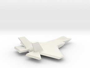 1/350 F-35C Lightning II in White Natural Versatile Plastic
