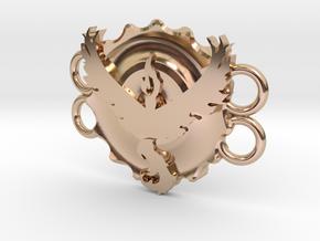 Pokemon Go Team Valor Bracelet Medallion in 14k Rose Gold Plated Brass