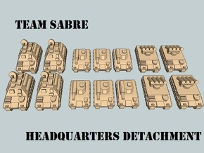 """Team Sabre"" 3mm Tracked Armor HQ Section (14pcs) in White Strong & Flexible"