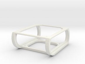 1/10 scale seat mounting bracket (jeep style) in White Natural Versatile Plastic