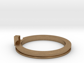 Slim Stackable Ring Size 7 in Natural Brass