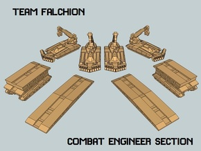 """Team Falchion"" 3mm Tracked Engineers (8 Pcs) in White Strong & Flexible"