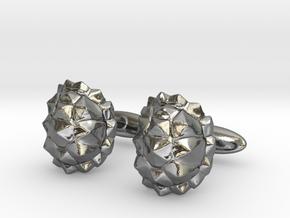 Tortoisecufflinks in Polished Silver