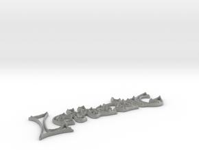 Lettering  in Metallic Plastic