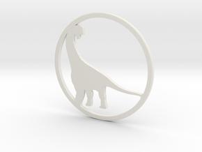 Camarasaurus necklace Pendant in White Natural Versatile Plastic