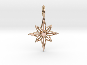 Star No.3 Pendant in 14k Rose Gold Plated Brass