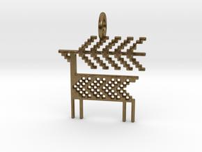 Reindeer Pendant in Natural Bronze