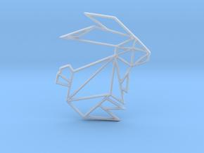 Origami Rabbit in Smooth Fine Detail Plastic