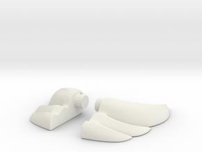 Golden Ear in White Natural Versatile Plastic