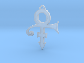 Prince Love Symbol Pendant (Small) in Smooth Fine Detail Plastic