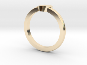 Heart Mid Finger Ring in 14K Yellow Gold