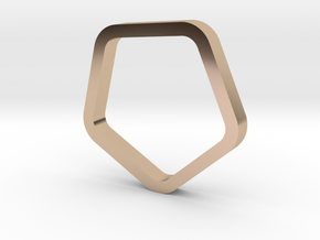 Pentagon Ring in 14k Rose Gold Plated