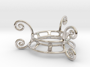 Ornament Egg Stand in Platinum