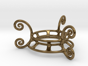 Ornament Egg Stand in Polished Bronze