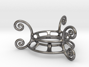Ornament Egg Stand in Polished Nickel Steel
