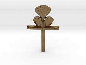 Cross Pendent in Natural Bronze