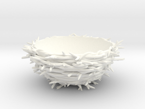 Nest Egg Holder in White Strong & Flexible Polished